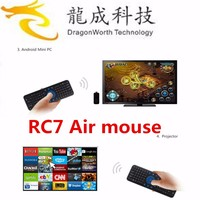 RC7 Smart Remote 2.4GHz USB Wireless Keyboard Gyroscope Air Fly Mouse for Mini PC