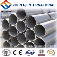 Hot Sale Material Hot Rolled Steel Hot Dip Galvanized Round Pipe For Ship Building From Shanghai Supplier