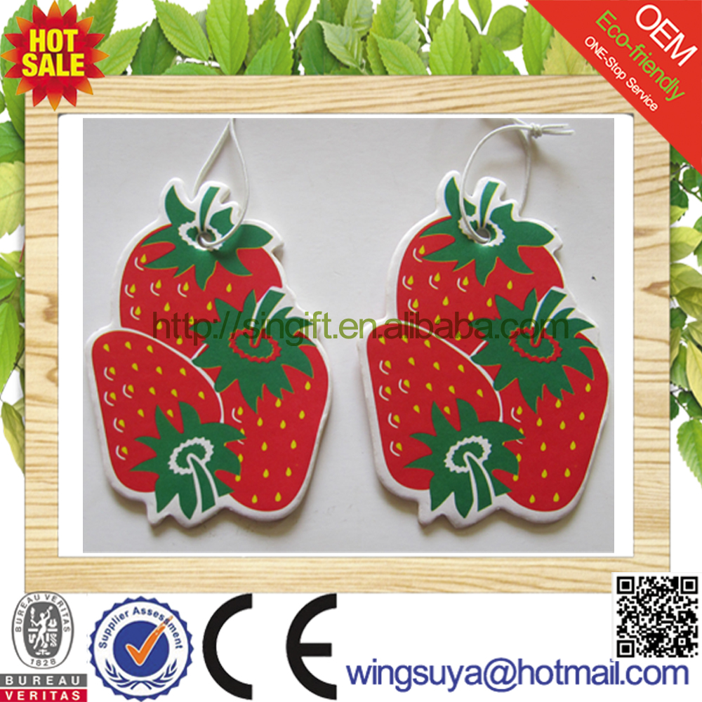 promotional OEM printed paper car air freshener