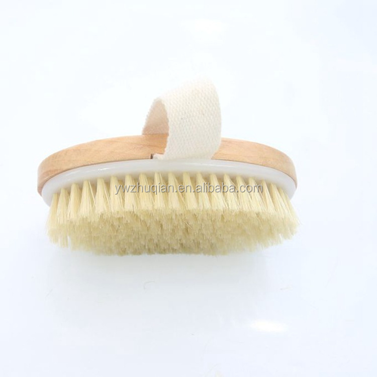 OEM Low price High-quality 100% Bristles Scrub Brush Long body brush Wooden brush