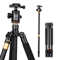 62'' Q999 Flexible tripod monopod for video DSLR digital camcorder camera 15kg load photography tripod w swivel head carry bag