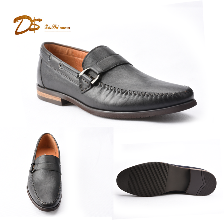 Best quality promotional slip on leather moccasins shoes for men