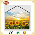 light up sunflower small size canvas painting, beautiful wall painting