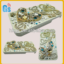 For Apple iPhone5 5G 3D Diamond Crystal Rhinestone Pearl Bling Case Cover HEART