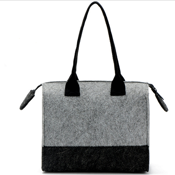 2016 New Design Promotional Fashion Oem Custom Promotion tote bag Women Felt Handbag For Lady
