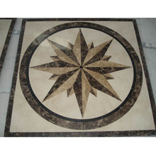 Customized marble inlay flooring design waterjet mosaic tile medallion