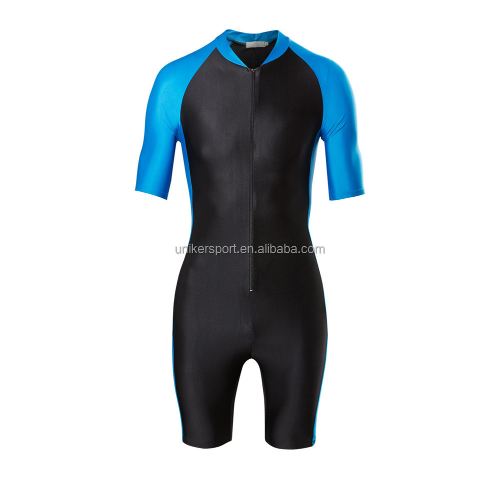 Wholesale OEM anti-UV unisex wetsuits, short sleeve surfing suits, gym suits