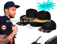 New Fashion Five Unique Fabric Options Blank Snapback Hats SN-1688