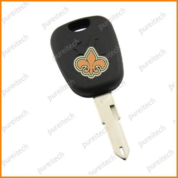 plastic car peugeot transponder chip key shell replacement with NE73 blade