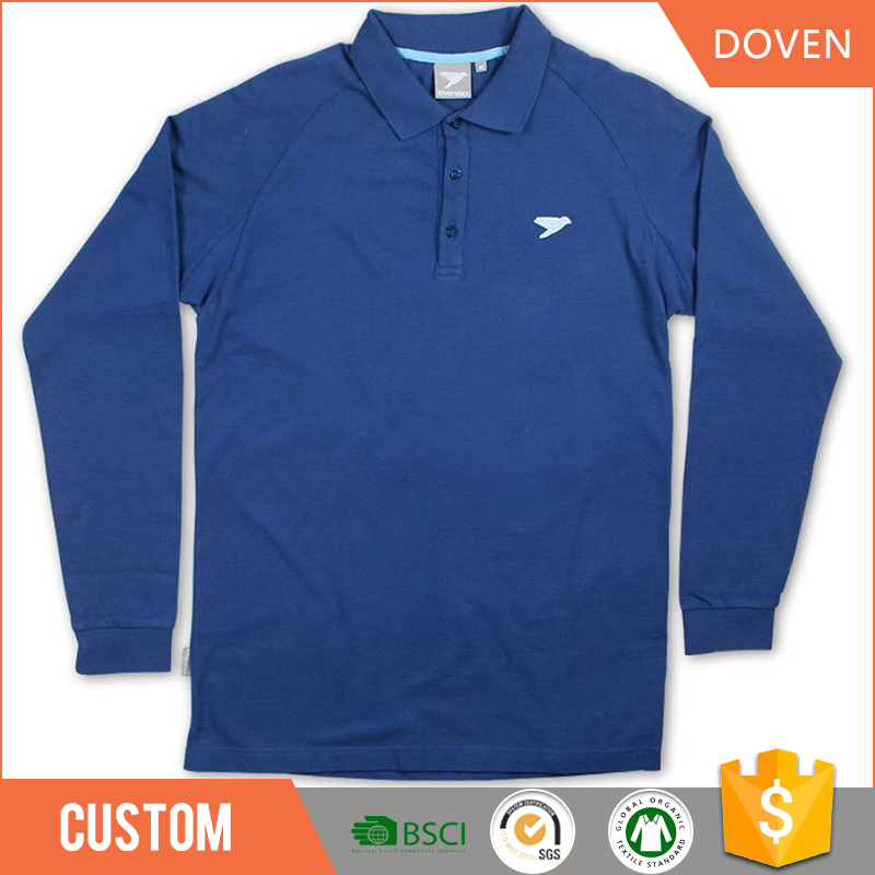 long sleeve polo shirt design with combination men