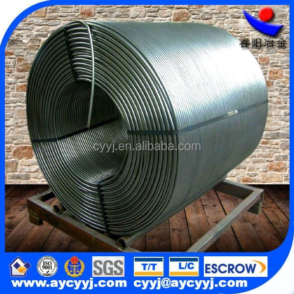 Alibaba express china Calcium Silicon/CaSi ferro alloy Cored Wire exporting to big steel factory