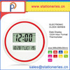 Modern style wall mounted mini round led digital time clock