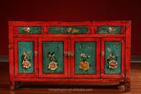 Antique Oriental furniture Painting cabinet