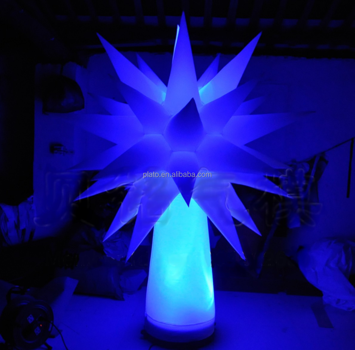 wholesale remote control inflatable rgb led light tree cone for event decoration