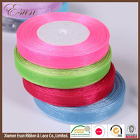 Garments accessories wholesale roll organza ribbon for hairbow