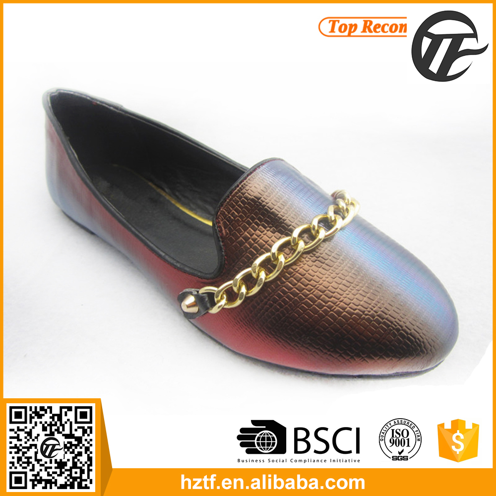 2016 new design pictures of women flat shoes