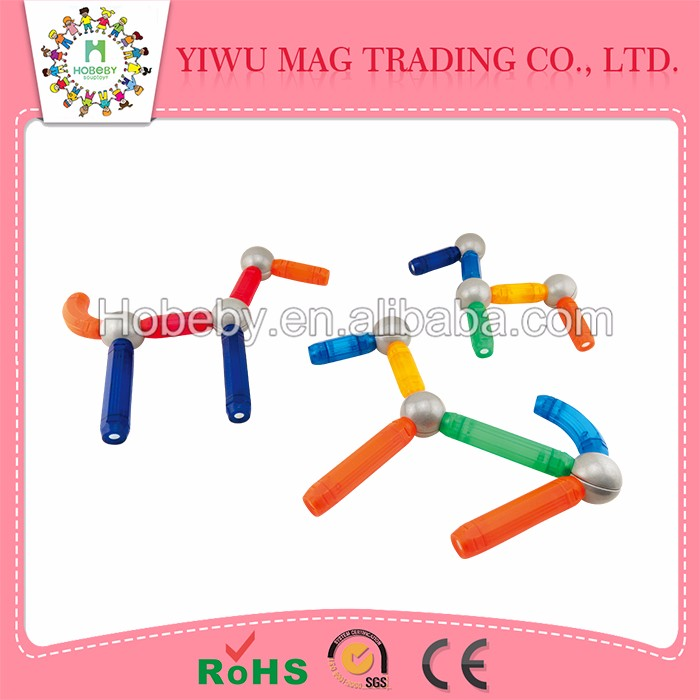 China wholesale market magnetic stick with light and kids educational toys