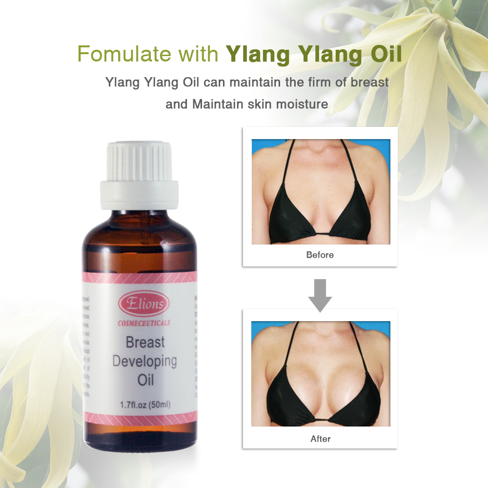 natural botanical extracts breast oil for breast enlargement