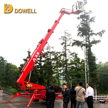 Compact Two Person crawler articulated boom crawler lifting platform 18m