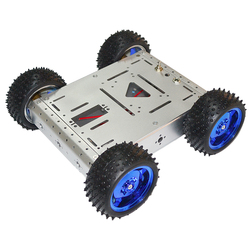 1.5KG silver load-bearing 4WD smart car chassis aluminum alloy car body off-road driving robot