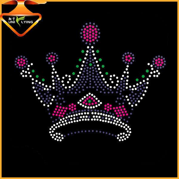 High quality heart crown rhinestone template material