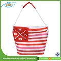 2015 China Manufacturer Stripe Canvas Beach Tote Bag