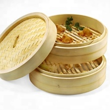 12 inch large round wholesale cheap chinese healthy bamboo steamer