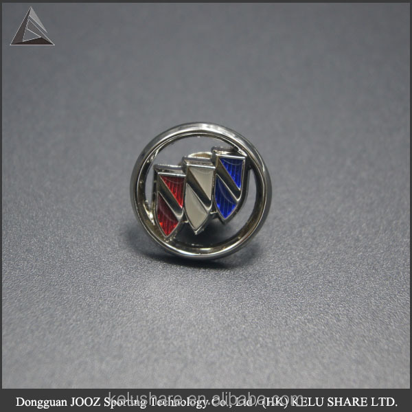 Tap pin type mini button coin size car logo