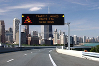 Variable Speed Signs Screen Outdoor Mobile LED Display Traffic Message Board