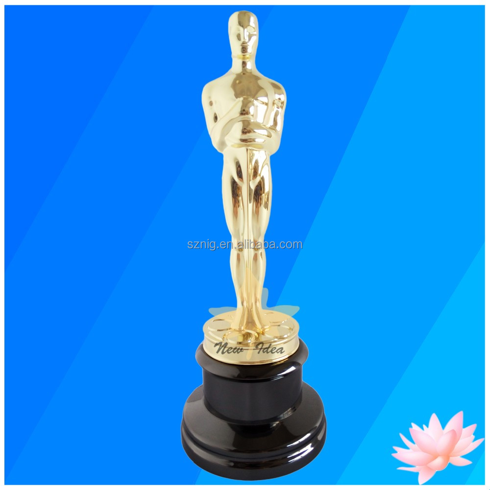 Buy Replica Real Metal Oscar Trophy With Factory Directly Wholesales Metal Oscar Trophy Awards Souvenir Prize
