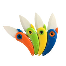 1Pcs Portable Bird Shape Folding Ceramic Knife Fruit Vegetable Cutting Paring Mini Knives Multifunction Cutter HB8858