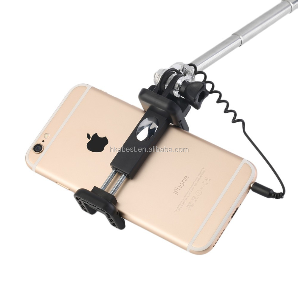 For Mobile Phone Luxurious Selfie Monopod,Dimmable LED Filling light Selfie stick With LED Flash Light Extendable Selfie Stick