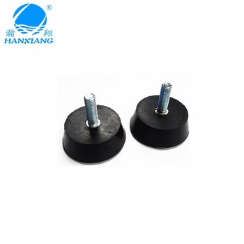 Factory wholesale M8 screw fix rubber feet with OEM for equipment