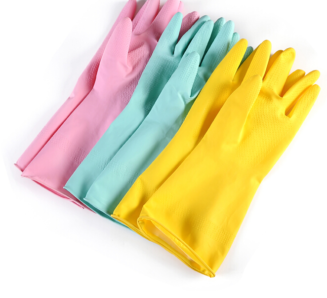 Q004 Household thin waterproof latex gloves wholesale