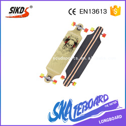 wholesale cheap price Free style top quality chinese maple longboard wooden longboard