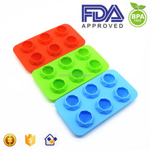 6 Cavity Jumbo Diamond Ice Tray FDA Silicone Ice Cube Tray, fancy Ice Cube Tray,Silicone Ice Tray