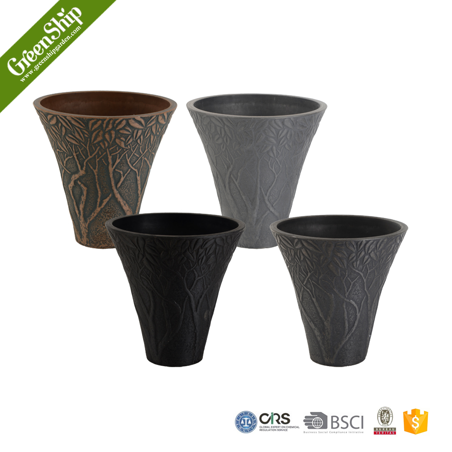 10T30 series Biodegradable Outdoor Decorative Plastic Flower Pot/Planter/ 10 years lifetime