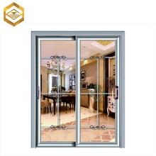 Aluminum alloy frame pull handle slide glass door