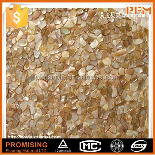 delicate but unique beautiful brown lip sea shell mosaic wall tiles