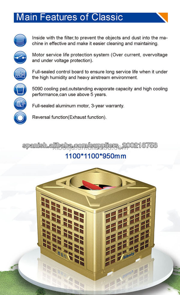 China New products swamp air cooler/ Kitchen Use Air Coolers/Kitchen Air Conditioner