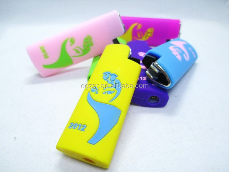 3D/2D custom promotional gifts silicone lighter case
