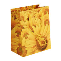promotional sunflower paper bag with handle for gift, customized print and logo, OEM orders are welcome