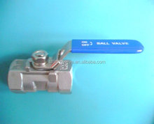 1-PC stainless steel gas and oil ball valve reducing bore female thread