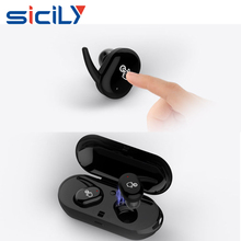 China Factory Waterproof Wireless Bluetooth Earbuds with Charging Dock,Sport Sweatproof Wireless Headphones with Mic