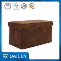 Elegant Top Quality Decorative Storage Fabric Foldable Storage Ottoman Stool Cube