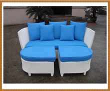 Sectional ferforje Rattan Daybed Sunbed Wicker