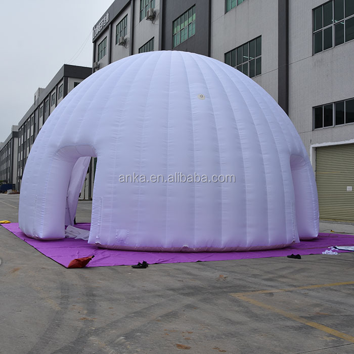 High quality 5m diameter advertising show white inflatable igloo tent for events