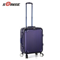 guangzhou factory price hot aluminum women hard case trolley bag