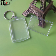 Good promotion gifts acrylic keychain photo frame blank keyring