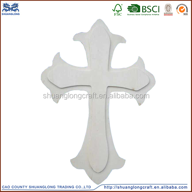 new design factory price cheap small unfinished wooden crosses wholesale